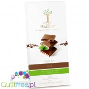 Balance Belgian Luxury Chocolate, milk, with sweetener made from Stevia plant