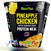 Nutripak Pineapple Chicken with brown rice protein meal - ready-made dish 39g chicken protein with pineapple in the Caribbean st