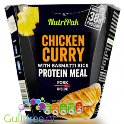 Nutripak Chicken curry with basmati rice protein meal