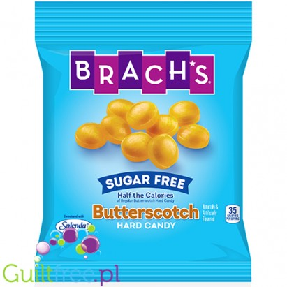 Brach's Sugar Free Candy, Hard Candy, Butterscotch - sugar-sweetened caramel with sweeteners