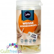 Soulfood LowCarberia Weiße Schokodrops - white chocolate droplets with maltitol