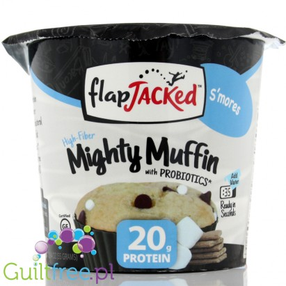 FlapJacked Mighty Muffin with prebiotics S'mores