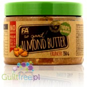 Fitness Authority So Good! Almond Butter Crunchy 100% - almond butter roasted almonds, coarsely ground, with no added sugar and