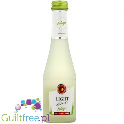 Lights live hûgo - cocktail based on sparkling white non-alcoholic wine
