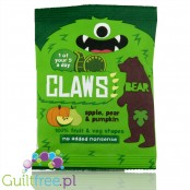 Bear Claws Pear & Pumpkin, fruit & veggie natural snack