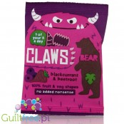 Bear Claws Blackcurrant & Beetroot, fruit & veggie natural snack