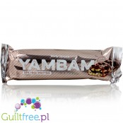 YamBam 33% High Protein Cookie 'n Chocolate protein bar with milk chocolate coating - A high-protein bar filled with chocolate m