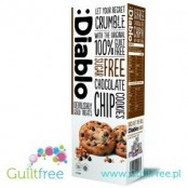 Diablo sugar free chocolate chip cookies with sweeteners - Crisp cakes with pieces of milk chocolate without sugar