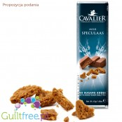 Cavalier Belgian Chocolate, milk speculaas, no sugars added - Belgian milk chocolate with no added sugar flavored