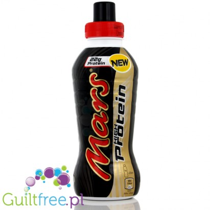 Mars Protein Drink; Chocolate and caramel flavor milk protein drink with sweeteners