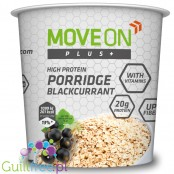 Moveon Plus + high protein oatmeal blackcurrant - high protein oatmeal with black currant, enriched with vitamins