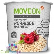 Moveon Plus + high protein raspberry oatmeal - high-protein porridge with raspberries, enriched with minerals