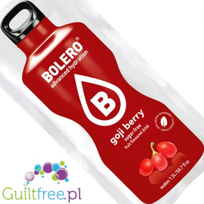 Bolero Instant Fruit Flavored Drink with Sweeteners, Goji Berry