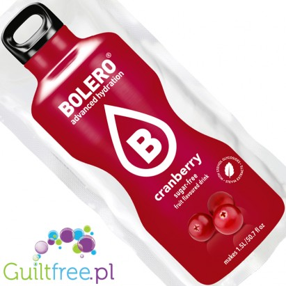 Bolero Instant Fruit Flavored Drink with sweeteners, Cranberry