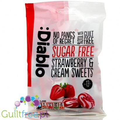 Diablo Sweets Strawberry and Cream Sweets