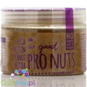 Fitness Authority FA So good! ® Pro Nuts Cinnamon Raisin - Peanut butter with raisins and cinnamon made from roasted peanuts wit