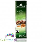 Cavalier Stevia Belgian Chocolate, milk caramel, no sugars added, 30% less fat - Belgian milk chocolate