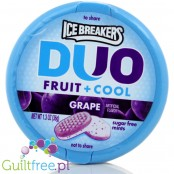Ice Breakers Duo Grape sugar free mints with cooling crystals - low-calorie*, grape-mint powdered candies, without sugar, contai