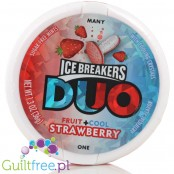 Ice Breakers Duo Strawberry sugar free mints with cooling crystals
