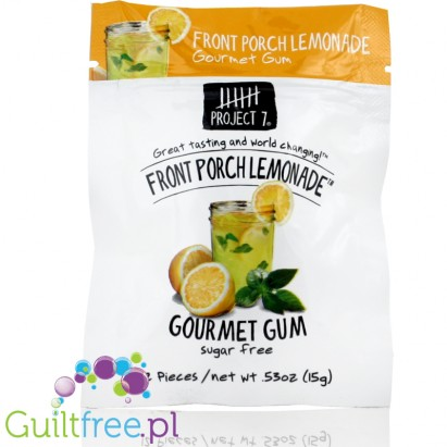 Project 7 Gourmet Sugar Free Gum - Front Porch lemonade