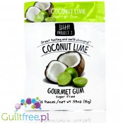 Project 7 Coconut Lime sugar free chewing gum - Sugar-free chewing gum with lime-coconut flavor, contains sweeteners