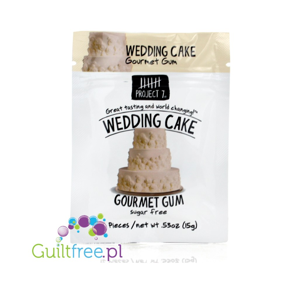 Project 7 Wedding Cake sugar free chewing gum - GUILTFREE.PL