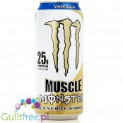 Monster Muscle Energy Shake Vanilla - Vanilla Juice Milk Drink, dietary supplement, contains sugars and sweeteners