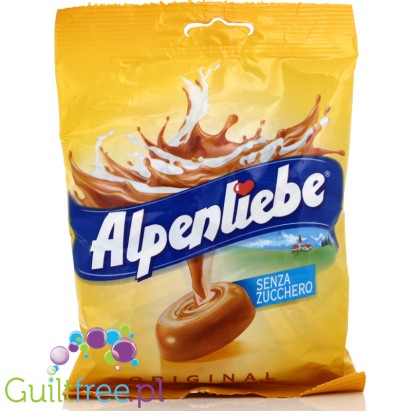Alpenliebe Original Caramelle Colate senza zucchero - buttermilk chocolate caramel without sugar, contains sweeteners