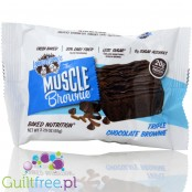 Highprotein Muscle Brownie All Natural Triple Chocolate - Triple chocolate truffle with 100% natural ingredients