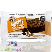 Highprotein Muscle Brownie All Natural Peanut Butter - High Protein chocolate and butter chocolate cake with 100% natural ingred
