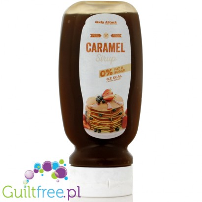 Body Attack Caramel Sirup - Caramel-sweet dessert sugar syrup, contains sweeteners