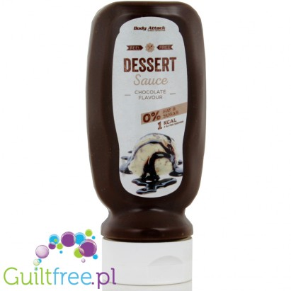 Body Attack Chocolate Cocoa-based Syrup - Chocolate-sweet dessert sugar syrup, contains sweeteners