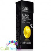 Zero lemon candies with sweeteners - sugar-free lemon flavor of vitamin C, including sweeteners