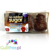 Vegan chocolates without added sugar, sweetened with xylitol