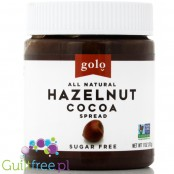 Sugar Free, Gluten-Free Dark Hazelnut Spread - Gluten-free sugar-free chocolate cream with natural sweeteners