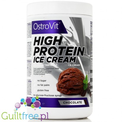 Ostrovit High Protein Ice Cream Chocolate Flavor - a mixture for the preparation of high protein chocolate ice cream, dietary su