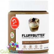 D's Naturals Protein Infused Peanut Fluffbutter, White Mocha Mousse