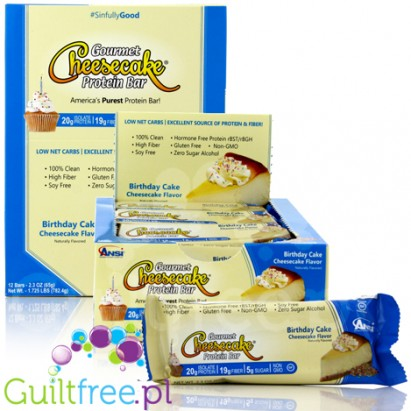 ANSI Gourmet Cheesecake Protein Bar, Birthday Cake
