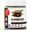 D's Naturals Protein Infused Fluffbutter Peanut, Creamy Chocolate Smores - Vegan peanut butter enriched with protein