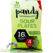Pandy Protein Candy - Sour Plates - fruit-flavored jelly without sugar, with protein and amino acids, contain sweeteners