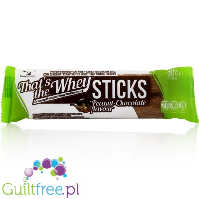 That's the Whey Sticks Peanut Chocolate