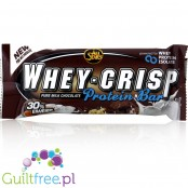 All Stars Whey Crisp Bar Pure Milk Chocolate - crunchy protein bar with milk chocolate flavor