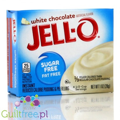 Sugar Free - Fat Free instant reduced calorie pudding & pie filling white chocolate
