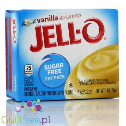 Sugar Free - Fat Free vanilla flavor - Pudding without sugar and no vanilla