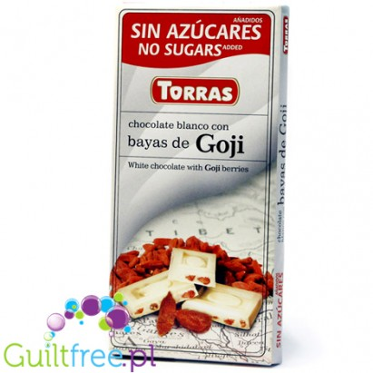 Torras White chocolate with Goji berries without added sugar