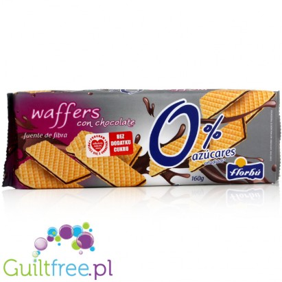 Florbu wafers, cocoa flavored with no added sugar