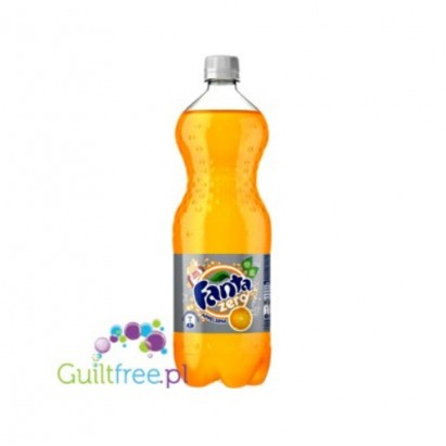 Fanta Zero - carbonated low-calorie refreshing drink with natural orange flavor