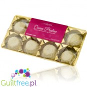 Gym Queen Snowball Kiss Protein Truffles with 33% Protein, White Chocolate Coconut Flavor