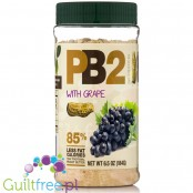 PB2 Powdered Peanut Butter with grapes - 85% skimmed peanut butter with grapes
