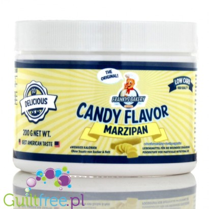 Franky's Bakery Candy Flavor Powdered Food Flavoring, Marzipan - powdered marzipan, no sugar, contains sweeteners